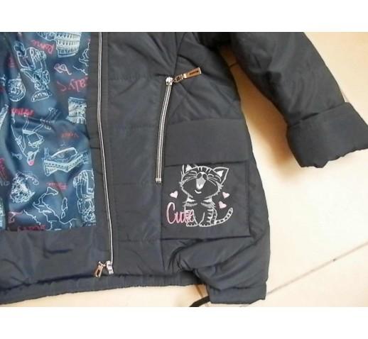 """Демисезонная куртка на девочку """"Кошечка"""""""
