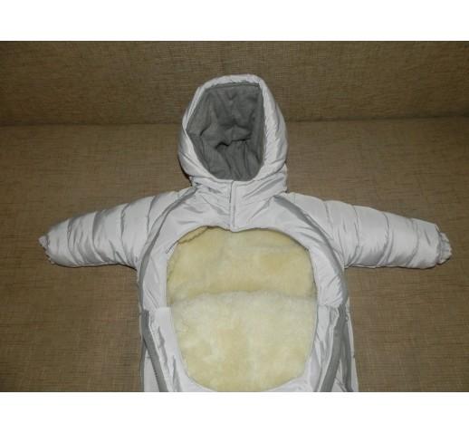 """Комбинезон-трансформер зимний для детей с отстегивающейся овчинкой """"Гном"""""""