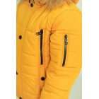 """Зимняя детская куртка на мальчиков и подростков """"Ден"""" коричневый и горчица"""